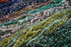 color gems mineral necklace Royalty Free Stock Image