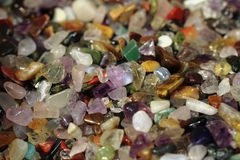 Color gemstone minerals  background Royalty Free Stock Image