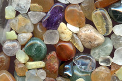 Color gemstones background Stock Photo
