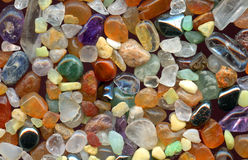 Color gemstones background Royalty Free Stock Image
