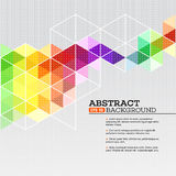 Color geometric background with triangles. Vector Stock Photography