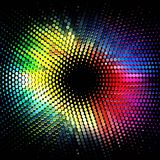 Color geometric flash Stock Image