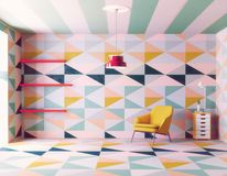 Color pattern interior. Royalty Free Stock Photo