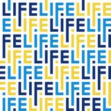 Color pattern of letters of the word life stock illustration