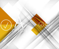 Color geometric shapes with option elements Stock Photo