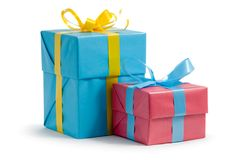 Color gift boxes Royalty Free Stock Photos