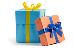 Color gift boxes Royalty Free Stock Photography