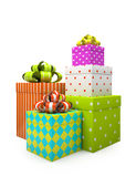Color gift boxes  Royalty Free Stock Image