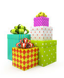 Color gift boxes  Royalty Free Stock Images