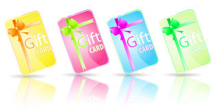 Color gift card. Isolate on white Royalty Free Stock Photography