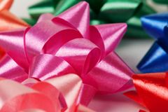 Color of gift ribbons Stock Photography