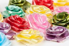 Color of gift ribbons Royalty Free Stock Photography