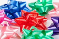Color of gift ribbons Royalty Free Stock Photo