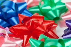 Color of gift ribbons Royalty Free Stock Image