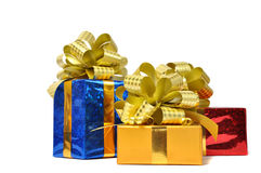 Color gifts isolated over white Royalty Free Stock Images