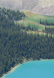 Color of glacial lakes Stock Images