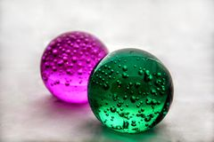 Color glass balls. With a white background Stock Images