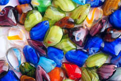 Color glass beads. The background of colorized glass beads Stock Images