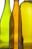 Color Glass bottle closeup Royalty Free Stock Image