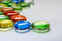 Color glass buttons Royalty Free Stock Photography