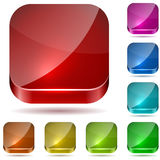 Color glass buttons Stock Image