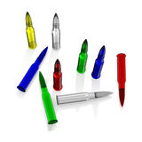 Color Glass Cartrige Royalty Free Stock Image