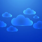 Color glass clouds. Stock Image