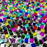 Color glass cubes Stock Photo
