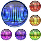 Color glass disco ball Royalty Free Stock Photos