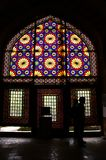Color glass in museum. Color glass in Iran - Teheran Royalty Free Stock Photos