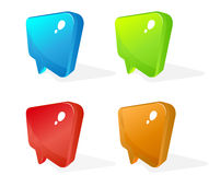 Color glass pointer icons Stock Photos