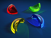 Color glass shard Royalty Free Stock Image
