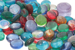 Color glass stones. Color glass stones on white background Royalty Free Stock Photography