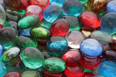 Color glass stones. Close-up of multi colored glass stones Royalty Free Stock Images