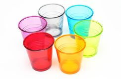 Color glasses Stock Images