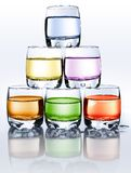 Color glasses Stock Photos