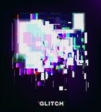 Color glitch background. Distortion effects for advertising. Vector illustration stock illustration