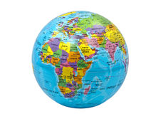 Color globe of earth on white background Royalty Free Stock Image