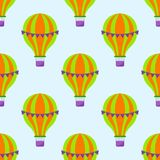 Color glossy air balloons seamless pattern entertainment holiday festival. Color glossy air balloons seamless pattern vector illustration. Round entertainment Royalty Free Stock Images