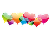 Color glossy balloons Stock Photos