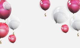 Color Glossy Balloons Background Vector Illustration Stock Photos