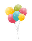 Color Glossy Balloons Background Vector Stock Image