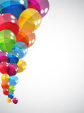 Color Glossy Balloons Background Vector Royalty Free Stock Image
