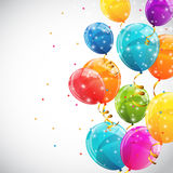 Color Glossy Balloons Background Vector Illustration Royalty Free Stock Photo