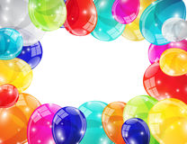 Color Glossy Balloons Background Vector Illustration Stock Images