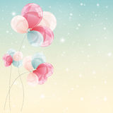 Color Glossy Balloons Background Vector Illustration Stock Photography