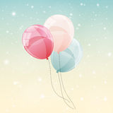 Color Glossy Balloons Background Vector Illustration Royalty Free Stock Image