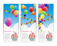 Color glossy balloons background vector Stock Images