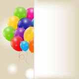 Color glossy balloons background vector Stock Photos