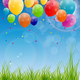 Color glossy balloons background vector Royalty Free Stock Photos